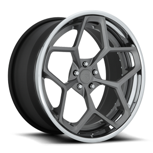 Fortis 5 22x11 | Anthracite w/ Matte Clear | Chrome Lip