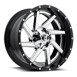 Renegade - D263 5 Chrome center, gloss black outer