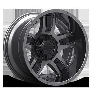 740 Manifold 8 Gunmetal with Customizable Carbon Black Spoke Inserts
