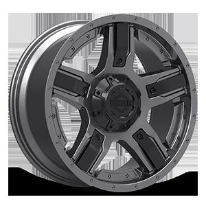 740 Manifold 6 Gunmetal with Customizable Carbon Black Spoke Inserts