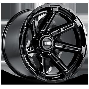 GD12 6 Gloss Black Milled