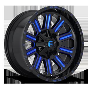 Hardline - D646 6 Gloss Black w/ Candy Blue
