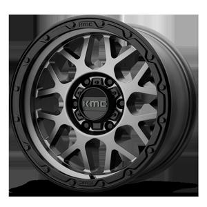 KM535-Grenade 6 Matte Gray w/ Black Ring