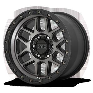 KM544 Mesa 6 Satin Black Machined Dark Tint