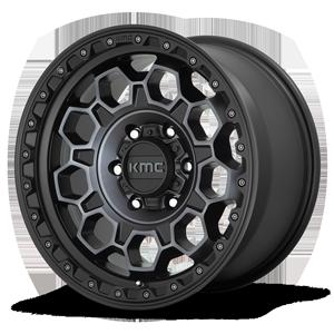 KM545-Trek 6 Satin Black Machined w/ Gray Tint