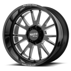 MO401 8 Gloss Black Milled