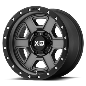 XD133 Fusion Off-Road 6 Satin Gray w/ Satin Black Lip
