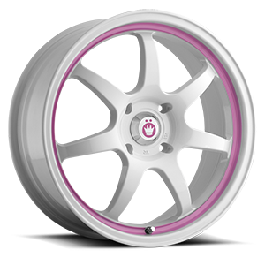 Forward 4 White with Pink Stripe