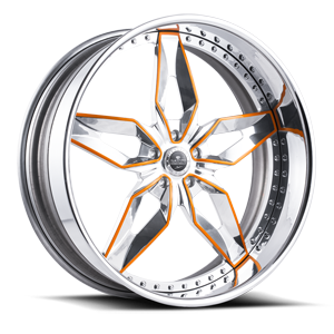 Lucca 5 Chrome w/ Orange