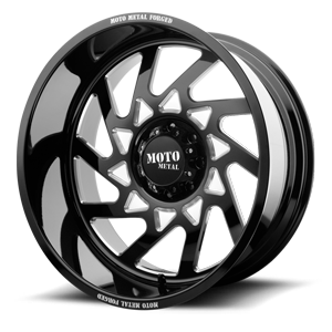 MO403 8 Gloss Black Milled