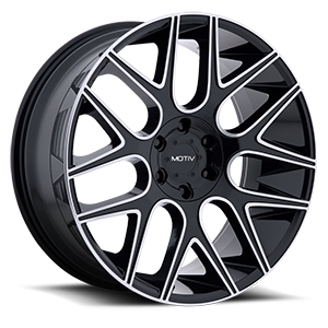 421 Medallion 6 Gloss Black with Mirror Machined Face and Lip Accents