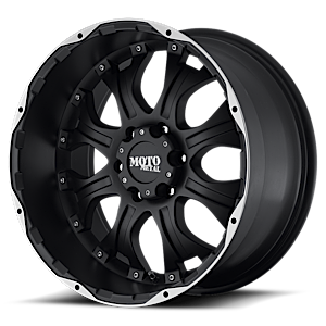 MO959 6 Matte Black Machined