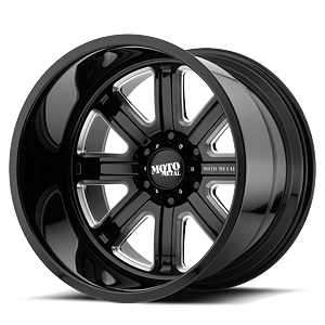MO402 8 Gloss Black Milled