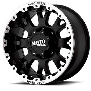 MO956 8 Matte Black w/ Machined Lip