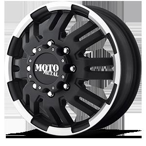MO963 8 Matte Black Machined