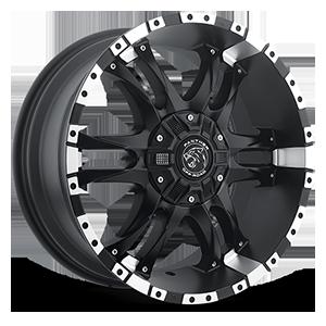 810 6 Flat Black Machined