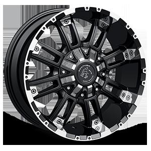 816 6 Flat Black Machined