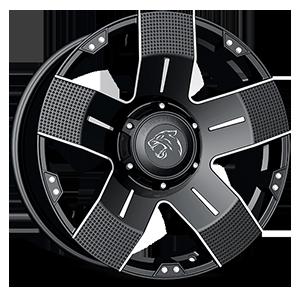 901 6 Flat Black Machined