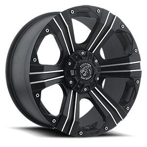 902 6 Flat Black Machined