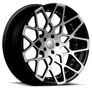 RSL-18 X Concave 5 Black Machined
