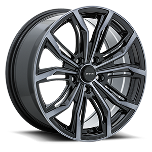 Black Widow 5 Black Machined Grey
