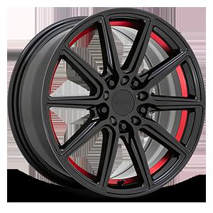 Throttle 5 Gloss Black w/ Red Inner Lip