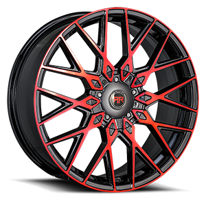 R24 5 Red/Black Machined