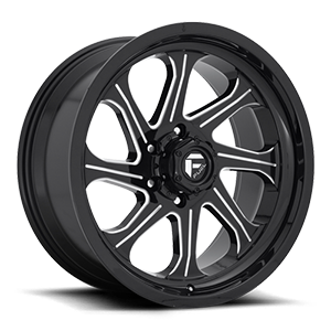 Seeker - D676 6 Gloss Black & Milled