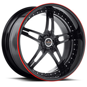 SV10 5 Black with Red Pinstripe