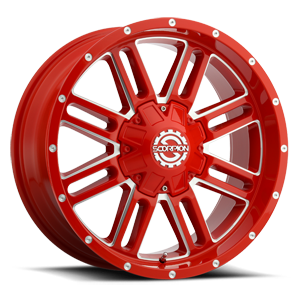 SC-18 6 Neon Red Milled
