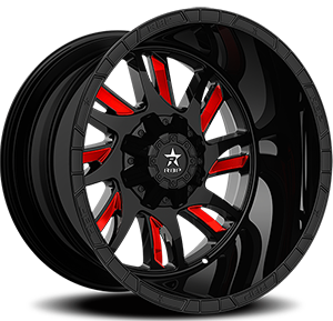 69R SWAT 8 Gloss Black with Red Inserts