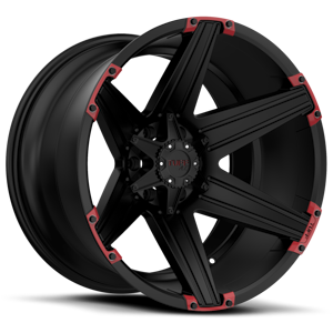 T12 5 Satin Black with Red Inserts