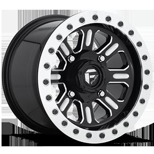 Hardline - D910 Beadlock (Lightweight Ring) 4 Gloss Black & Milled