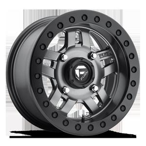 Anza Beadlock - D918 - UTV 4 Matte Anthracite w/ Black Ring