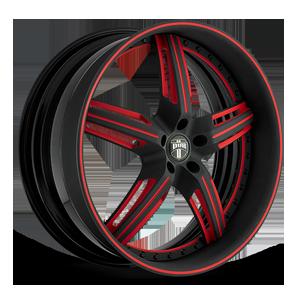 X-58 5 Matte Black w/ Red Accents