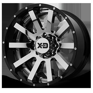 XD200 8 Chrome Center w/ Gloss Black Milled Lip