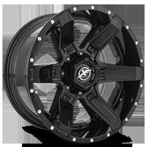 XF-214 5 Gloss Black w/ Gloss Black Inserts - 20x10
