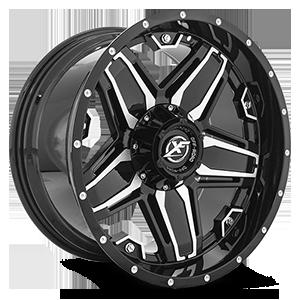 XF-223 5 Gloss Black Machined - 20x10