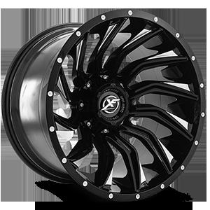 XF-224 5 Gloss Black Machined - 20x12