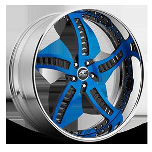 Bello 5 Blue with Chrome Lip