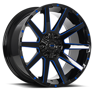 Sinner 6 Gloss Black with Blue Accent