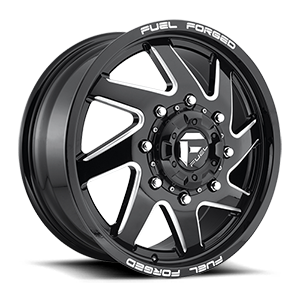 FF65D - Front 8 Gloss Black & Milled