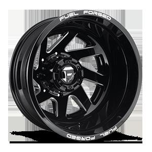 FF65D - Rear 8 Gloss Black & Milled