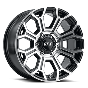 TR19 6 Gloss Black Machined Face