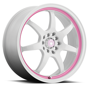 Forward 5 White with Pink Stripe