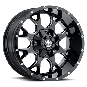 8015 Warrior 6 Black with Milled Spokes