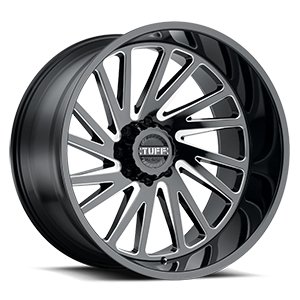 T2A True Directional 8 Gloss Black w/ Milled Spokes