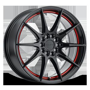 Speedster 5 Gloss Black w/ Red Stripe