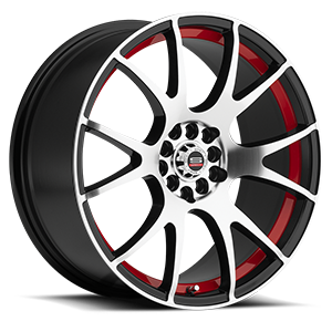 SP-02 5 Gloss Black Machined Red Line