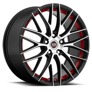 SP-17 5 Gloss Black Machined Red Line